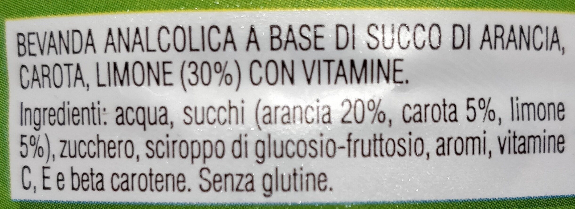 succo ACE - Ingredienti - it
