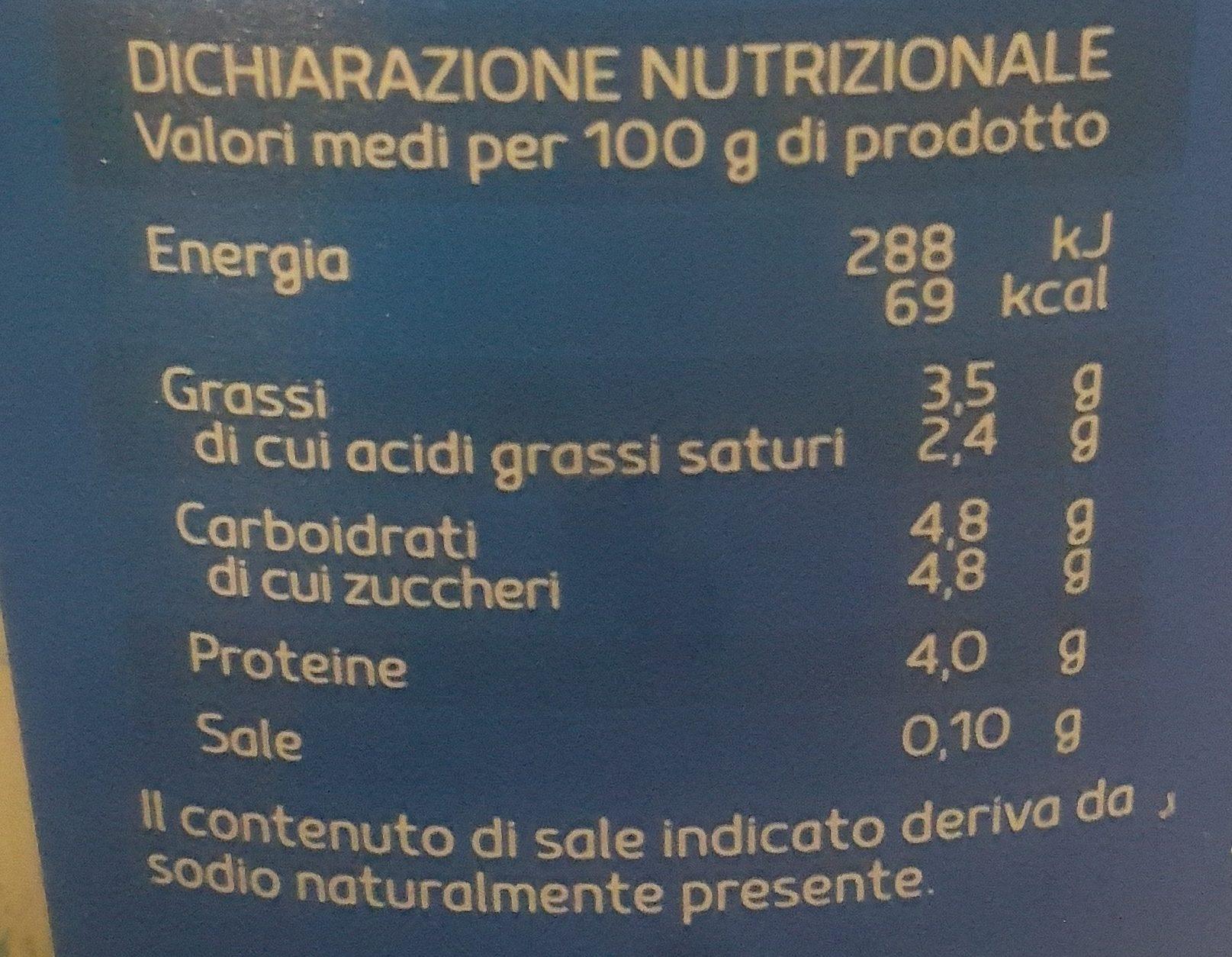 Yaourt Entier - Informazioni nutrizionali