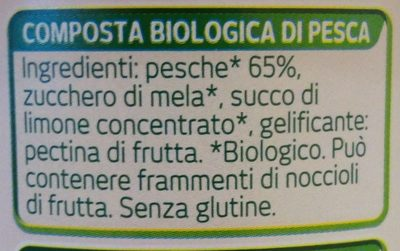 Composta biologica di pesca - Ingredients