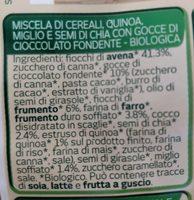 Granola cioccolato - Ingredients