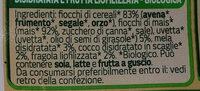 Muesli Frutta Bio - Ingredients - it
