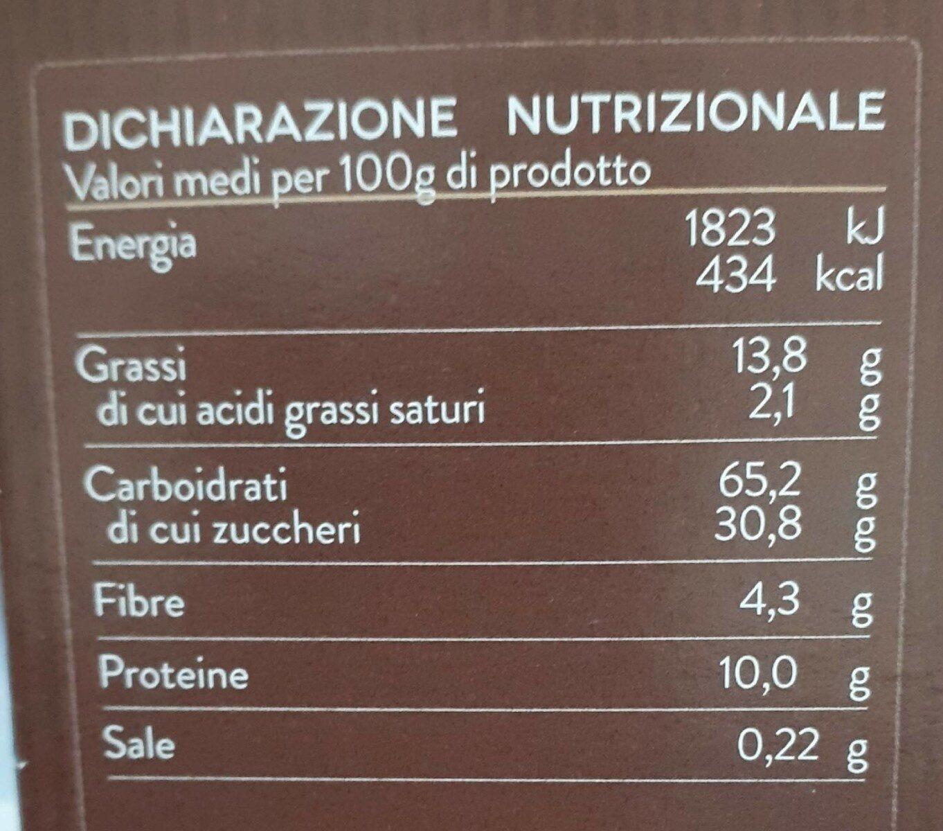 Cantuccini Toscani IGP Alle Mandorle - Voedingswaarden - fr