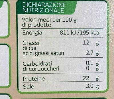 Salmone scozzese biologico affumicato - Informations nutritionnelles - it