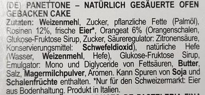 Panettone - Ingredients - de