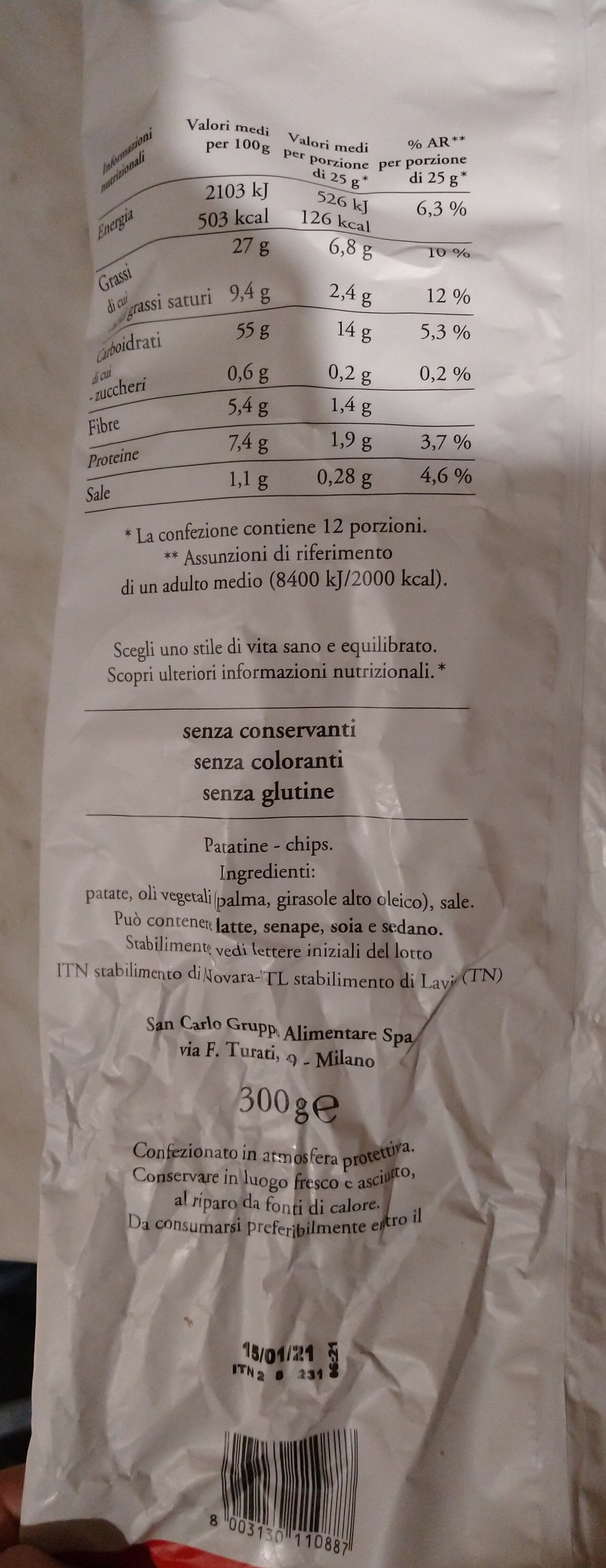 Classica - Nutrition facts - it