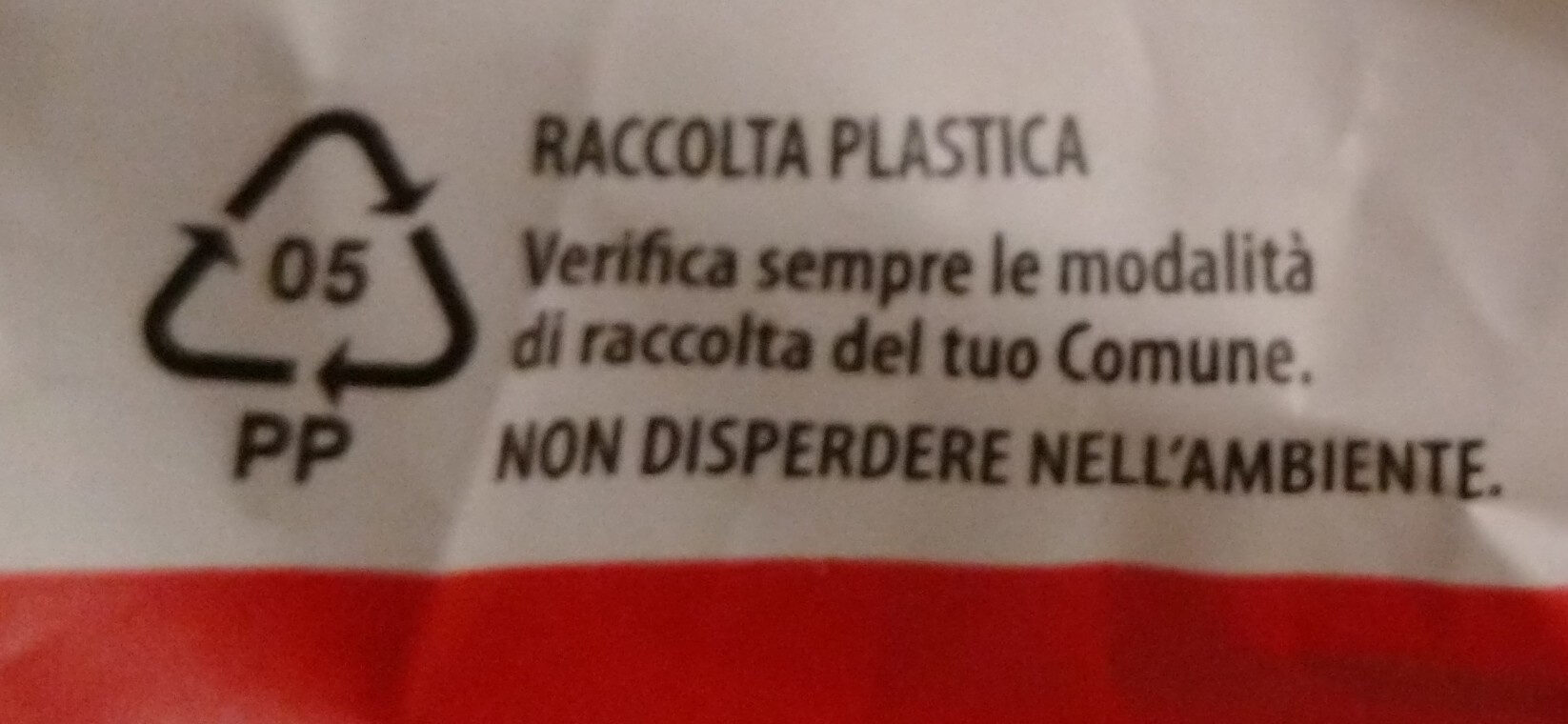 Classica - Recycling instructions and/or packaging information - it