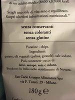 Patatine Classiche - Ingredienti