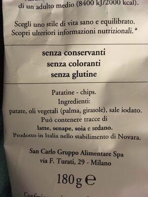 San Carlo Patatine Classiche - Ingredienti