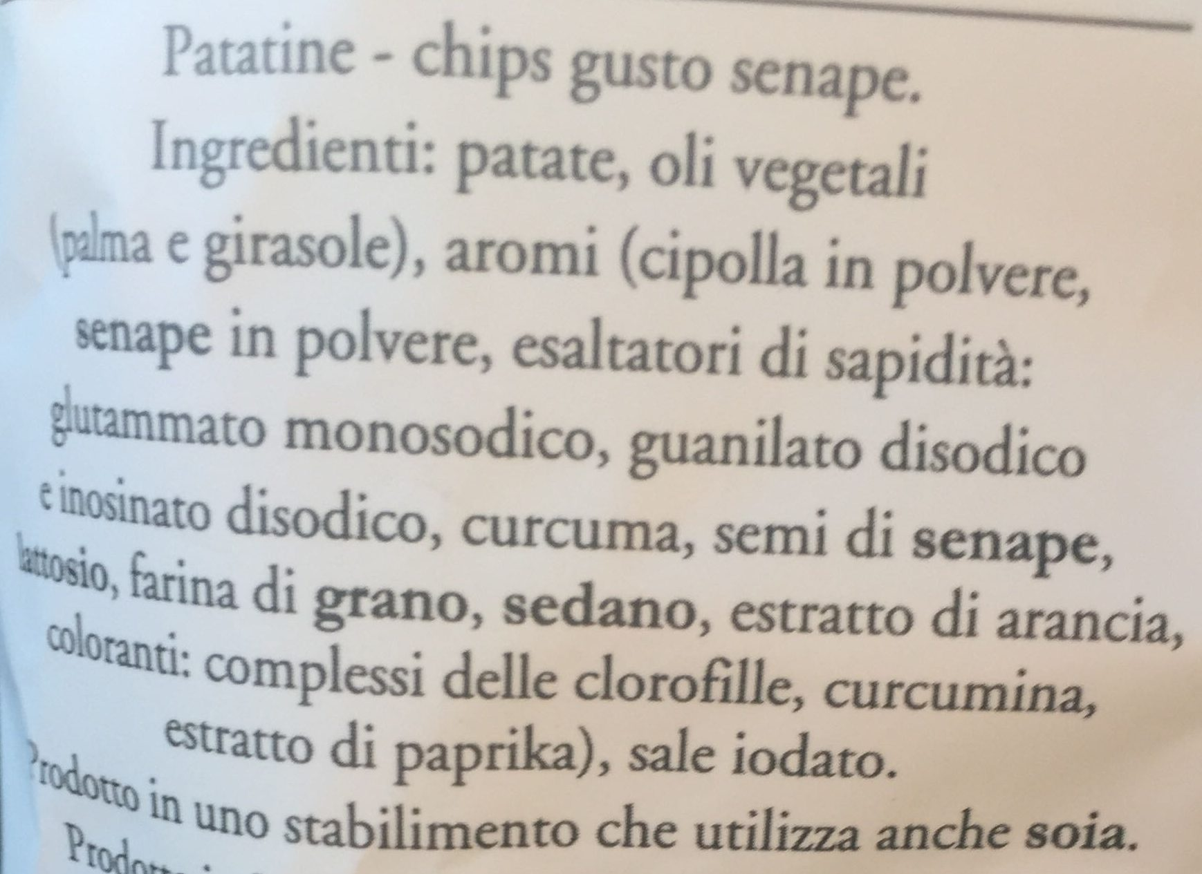 Più gusto - Ingredients