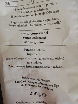Patatina Rustica - Ingredients - it