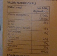 cacao amaro - Nutrition facts - it