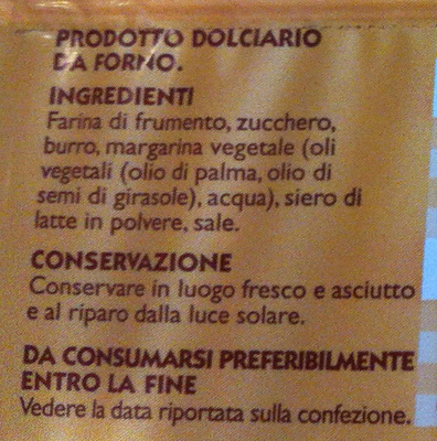 Le Sfogliatine, CONAD - Ingredients