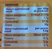 Le Sfogliatine, CONAD - Nutrition facts