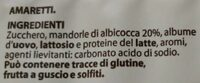 Gli Amaretti - Ingrédients - it