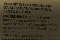 Yogurt cremosa Pera - Ingredients - it