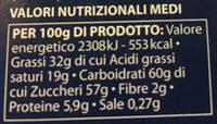 Finissimo cioccolato al latte - Nutrition facts