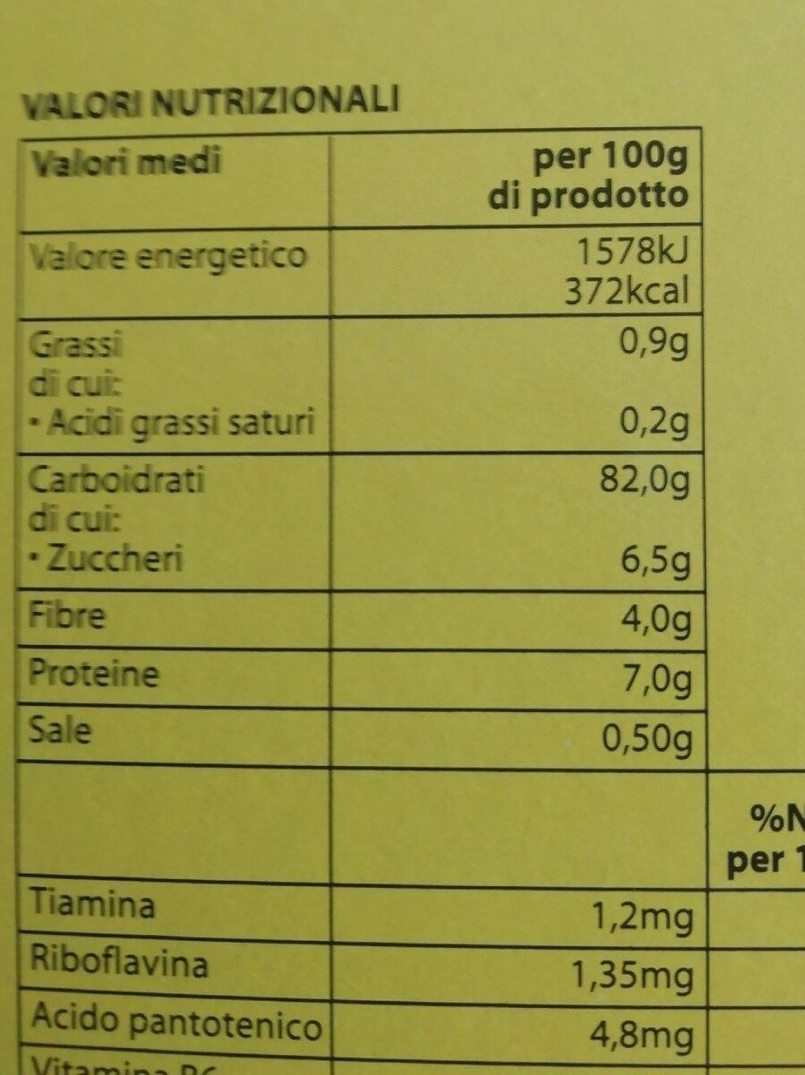 Corn Flakes Classici - Nutrition facts - it