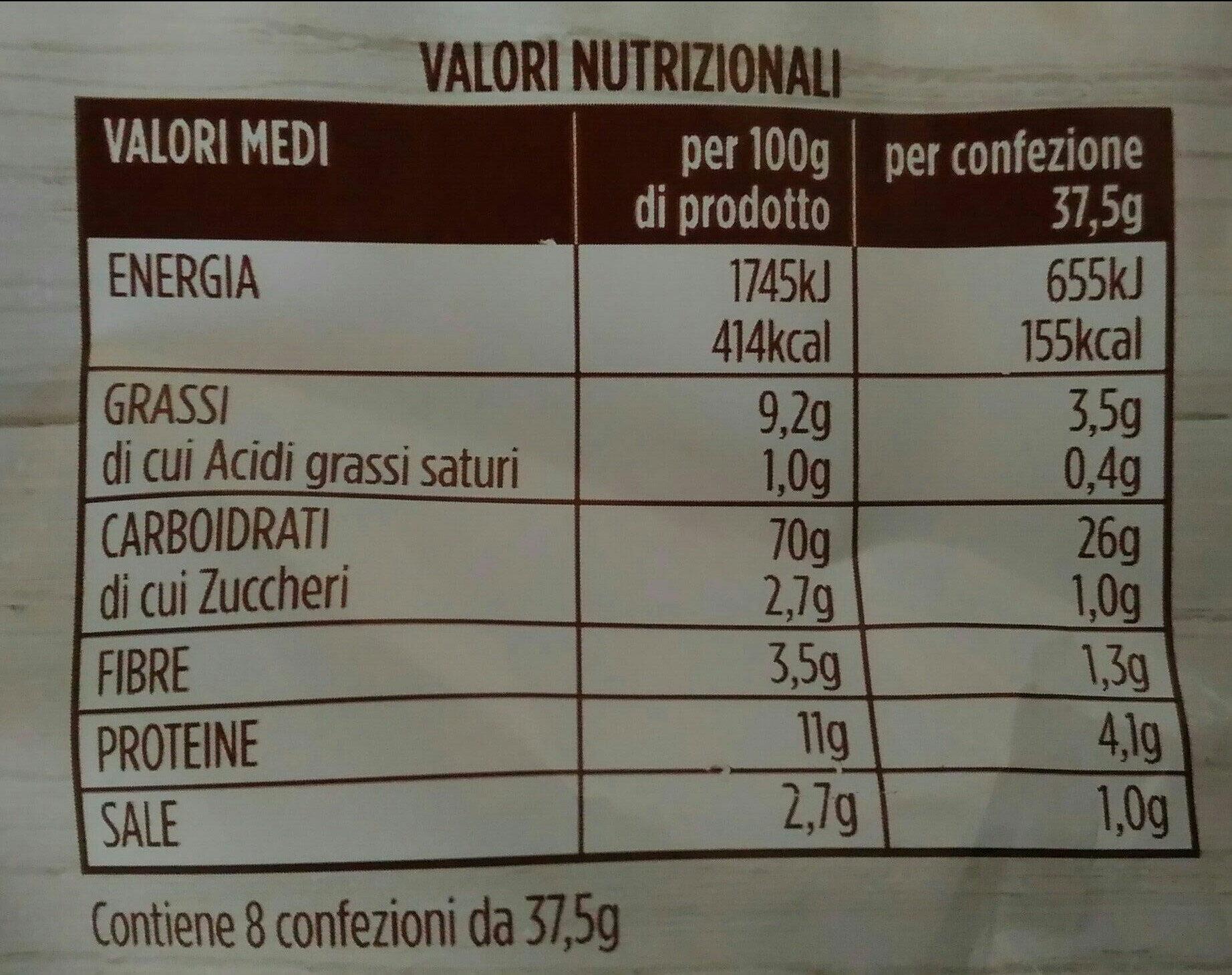 schiacciatine al rosmarino - Voedingswaarden - it