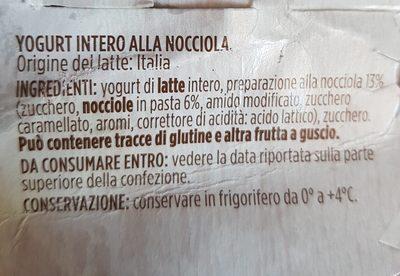 Nocciola - Ingrédients - fr
