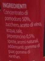 Ketchup piccante - Ingredienti - it