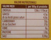 Sorbetto al limone - Valori nutrizionali - fr