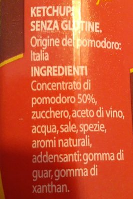 Ketchup - Ingredienti - it