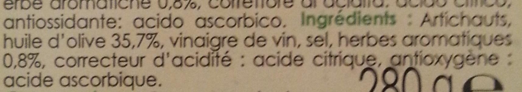 Mezzi Cuori Di Carciofi - Ingredients
