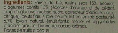 Panettone Classique - Ingrédients - fr