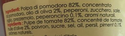 Sugo all' Arrabbiata - Ingrediënten - fr