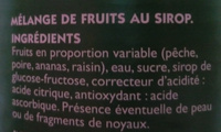 Macedonia di Frutta in Sciroppo - Ingredients