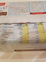Crackers Integrali Piacersi - Nutrition facts - fr