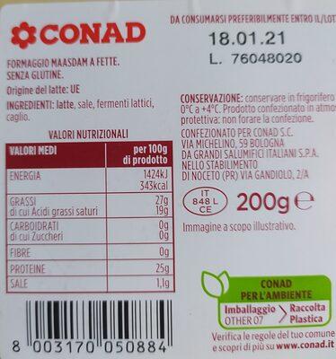 Maasdam - Ingrediënten - it