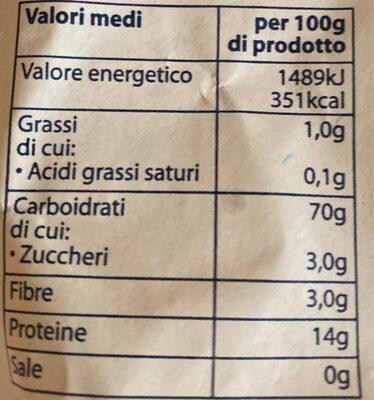 Rigatoni pasta di gragnano - Informations nutritionnelles