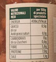 Fagioli borlotti - Informations nutritionnelles - it