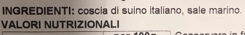 Prosciutto di san daniele dop - Ingredients