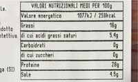 Prosciutto toscano dop - Nutrition facts - it