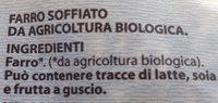 Farro soffiato biologico - Ingrédients - fr
