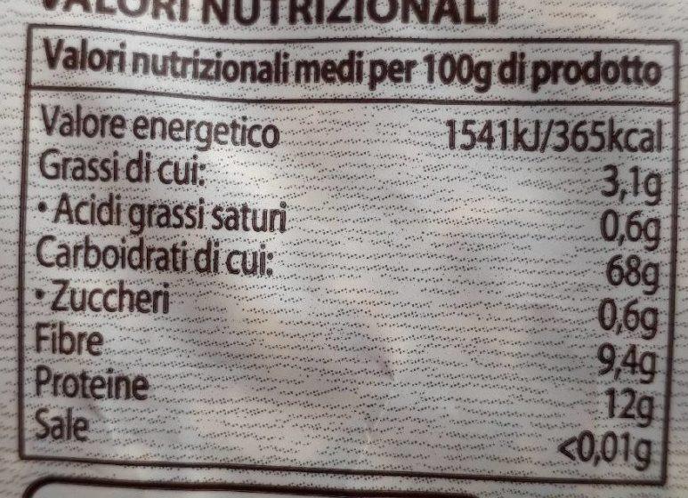 Farro soffiato biologico - Informations nutritionnelles - fr