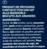 Cantucci toscani IGP alle mandorle - Ingrediënten - fr