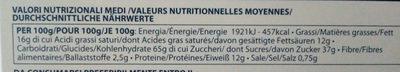 Cantucci toscani IGP alle mandorle - Voedingswaarden - fr