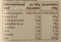 Zuppa Toscana Verso Natura - Voedingswaarden