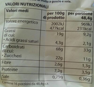 Frollini Con Panna 800G - Nutrition facts - fr