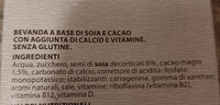 Bevanda a base du soia con cacao - Ingredienti - it
