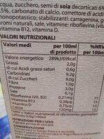 Bevanda a base du soia con cacao - Valori nutrizionali - it