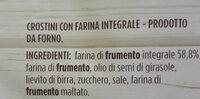 Crostini con farina integrale - Ingrédients - fr