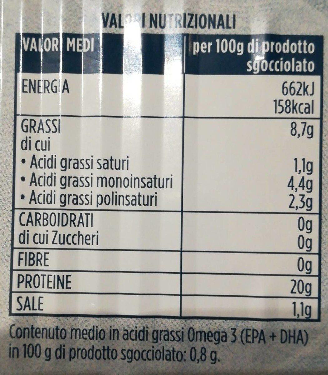 Filetto di salmone al naturale - Informations nutritionnelles - it