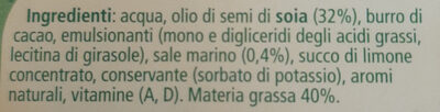 Margarina Soia - Ingredienti - it
