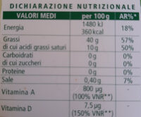 Margarina vegetale leggera 40% - Nutrition facts - it