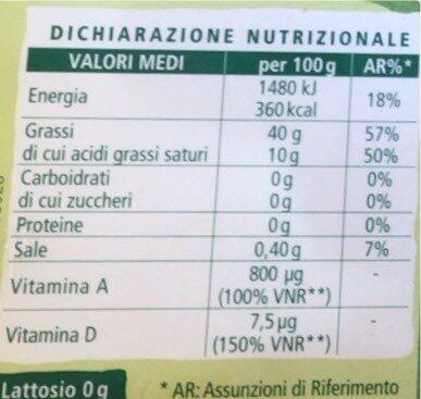 Margarina Soia - Valori nutrizionali - it