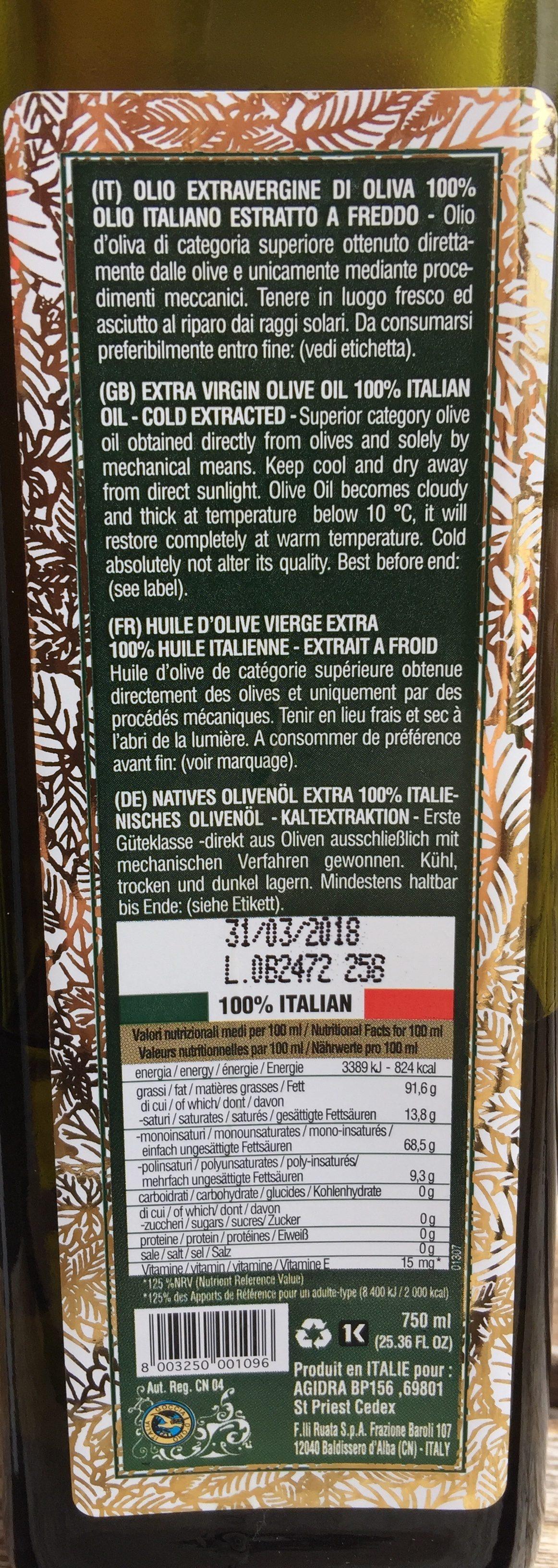 Olio Di Oliva - Ingrediënten - fr
